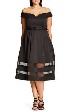 Main Image - City Chic Mystique Dress (Plus Size)