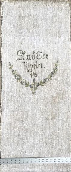 Original Historic German Grain Flour Sack Batch 37 Print Very Heavy Fabric Light Color PrintSacks