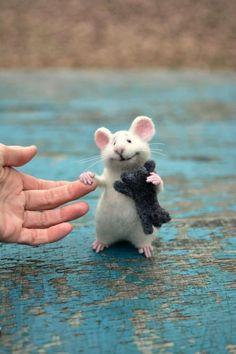 Image result for felt mouse tutorial #needlefeltingtutorials