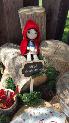 Little Red Riding Hood birthday party! See more party ideas at CatchMyParty.com!