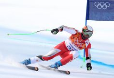 DAY 10:  Jan Hudec of Canada competes during the Alpine Skiing Men's Super-G http://sports.yahoo.com/olympics