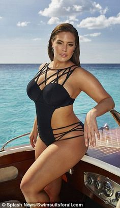 Ashley sizzles as she showcases her enviable curves for swimwear brand Swimsuits for all