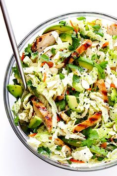 This post is sponsored by Blue Diamond Almond Breeze, maker of my favorite almondmilk. ♥  Who else is obsessed with chopped salads lately?! I'll be the first to admit — I am a total fan of those bagge