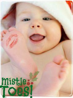 Mistle Toes... adorable photo idea! Design by http://photo-sharpen.com