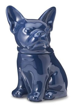 French Bulldog Cookie Jar- These sophisticated-yet-playful cookie jars from Target can hold treats for either humans or dogs. Gifts For Pet Lovers, Dog Gifts, Dog Lovers, Cute French Bulldog, French Bulldogs, Dog Milk, Dog Treat Jar, Dog Cookies, Yummy Cookies