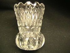 Antique Toothpick holder  / Clear Glass / EAPG ?