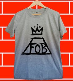 fall out boy Screenprint Grey T shirt for Woman and by greycantik