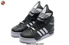 New Adidas X Jeremy Scott Big Tongue Shoes Black White