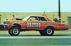 Brutus Hemi Pontiac drag car.