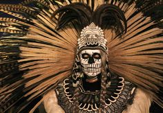 Aztec Costume, Voodoo Costume, Voodoo Party, Scary Halloween Costumes, Halloween Masks, Halloween Party, Los Muertos Tattoo, Aztec Drawing, Arte Dope