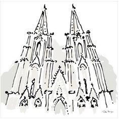 Notre Dame, Paris by Eazl Premium Gallery Wrap, Size: 10 x 10, Multicolor