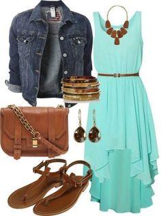 Turquoise summer maxi dress ... elfsacks