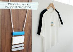 Colorblock pendant necklace (i am obsessed with this, need to make it ASAP)