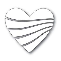 Simon Says Stamp STREAMING HEART Wafer Dies s530 Love