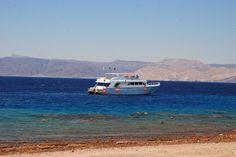 Dive boat in Aqaba, Jordan