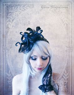 Octopus Fascinator (Goth, Gothic, Steampunk, black, headpiece ) by BlackUnicornShop on Etsy https://www.etsy.com/listing/160599465/octopus-fascinator-goth-gothic-steampunk
