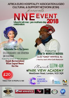 Chief Dr Morocco Maduka, King of Igbo Music to Headline Nne pre-Mother's Day Event 2018