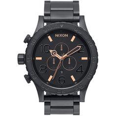 Nixon 51-30 Chrono Watch - Men'sAll Black/Rose Gold