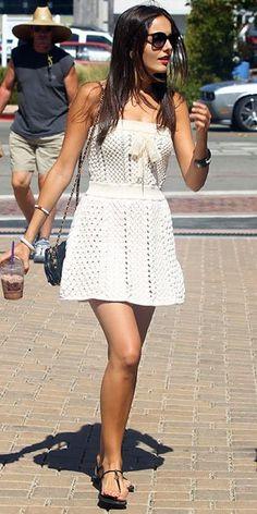 Camilla Belle - White dress
