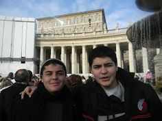 The Boys at the St. Peter's Square listening to Pope Benedict