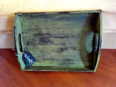 Rustic Olive Wine Tray