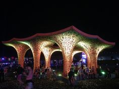 Check out this completely reclaimed pulp pavilion at Coachella