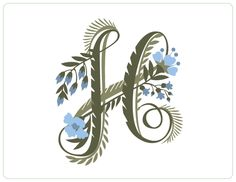 My new initial :: Floral Alphabet by Jill De Haan, via Behance