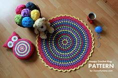 New Pattern ~ Happy Crochet Rug