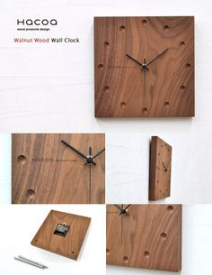 rocca-clann | Rakuten Global Market: Hacoa hacoa wall clock-square Walnut H151-W ( wall clock-natural-wood )
