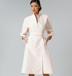 Vogue - V1239 Misses' Dress and Belt | Average | by Chado Ralph Rucci - WeaverDee.com Sewing & Crafts - 1