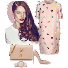 Polyvore featuring polyvore, fashion, style, STELLA McCARTNEY, Dolce&Gabbana, Yves Saint Laurent and Kate Spade
