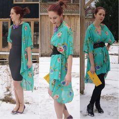 Far East Versatility!: I style @FOREVER™ 21 #Kimono 3 ways. Read More!: http://www.thepurplescarf.ca/2014/02/Fashion-Style.My-Style-Kimono.Style-Far-East-Versatility.html