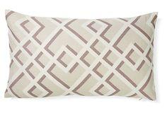 Flexi 12x20 Linen-Blend Pillow, Gray on OneKingsLane.com