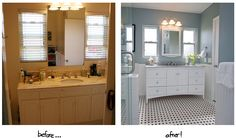 Before and After DIY Bathroom Renovation Ideasis free HD Wallpaper. Thanks for you visiting Before and After DIY Bathroom Renovation Ideas H. Bathroom Remodel Pictures, Budget Bathroom Remodel, Shower Remodel, Bathroom Renovations, Bathroom Makeovers, Bath Remodel, Cheap Bathrooms, Beach Bathrooms, Modern Bathrooms
