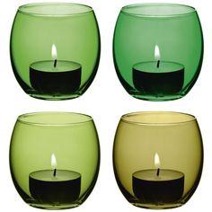 desiary.de - Teelichthalter, Coro leaf Farben 4er Set