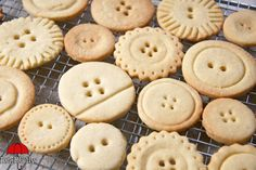 Red-brolly-button-biscuits: love all the different shapes