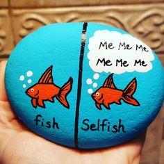Painted rock selfish fish