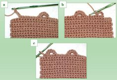 How to crochet different kind of button holes