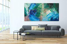 Acryl Gemälde 'Pfauenauge' 200x100cm