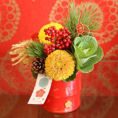 Chinese New Year Decorations, New Years Decorations, Christmas Decorations, Chinese New Year Flower, Japanese New Year, Ikebana Flower Arrangement, Flower Arrangements Simple, Modern Floral Design, Poster Photography