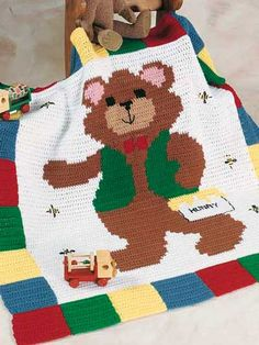Barry Bear Afghan free pattern