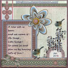 Dutchie Nelleke's gallery - Jan.2016 - A new site is born -Here you go Vicki , my page – Jan.2016 - A new site is born made by your loving TWO_Scraplift_Jan16 , thanks Vicki. I played by yours as usual ..lol.. shadowed myself font – Script / Alpha Black / Segoe Script