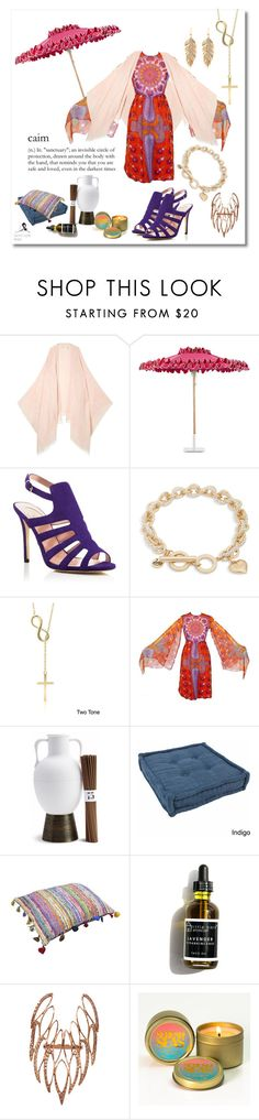 """""""The Calm in the Storm"""" by quicherz on Polyvore featuring Maje, Santa Barbara Designs, SJP, Vera Bradley, Dolce Giavonna, Bill Blass, L'Objet, Blazing Needles and Sidney Chung"""