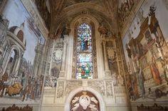 Santa Maria Novella - Church and Cloisters - Florence. Строцци часовня. Фрески Филиппино Липпи.