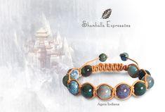 Pulseira Shamballa Unissex confeccionada em macramê e pedras naturais - Ágata Indiana - energizadas com energia Reiki  11 pedras de 10mm e 2 pedras de 8mm Compras pelo site http://www.elo7.com.br/42FDAA #jewelry #biojoias #yoga #yogis #om #zen #espiritual #stone #hippie #bracelets #hippiechic #acessorios #shiva #handmade #pedrasnaturais #pulseirismo #shamballa #boho #bohochic #shamballaexpressoes #meditation #amor #paz #yogalifestyle #energy