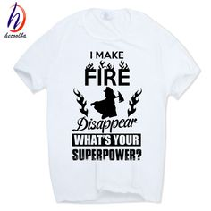 1686786c579 Fireman Gift Firefighter funny T-shirt Short sleeve O-Neck Tag a friend who