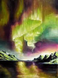 Image result for aurora borealis watercolor
