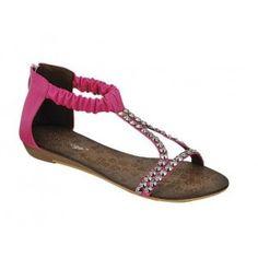 AMPLY-2 Women Ankle/T Strap Sandal - Fuchsia