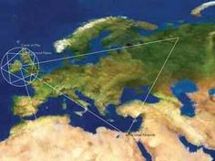 Ley Lines are alignments of ancient sites or holy places, such as stone circles, standing stones, churches, ancient monuments and megaliths