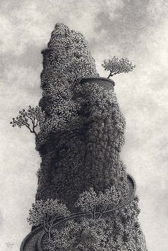 Ink and Graphite drawing. Ink stippling with Sakura Pigma Micron pens; graphite work with Dixon Ticonderoga pencils, Nature Illustration, Graphic Illustration, Graphic Art, Ink Pen Drawings, Graphite Drawings, Stippling Art, Pigma Micron, Texture Drawing, Impressionist Paintings